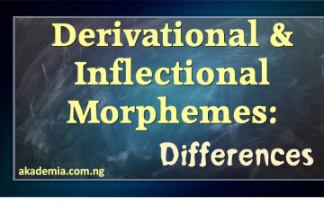 Derivational & Inflectional Morphemes - Differences
