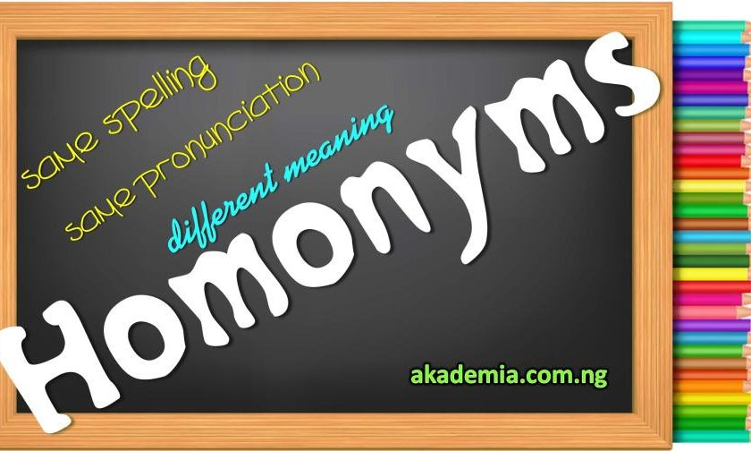 Homonyms Definition & Examples