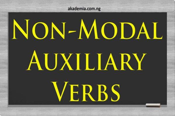 Non-Modal Auxiliary Verbs