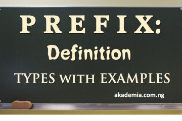 Prefix Definition, Types with Examples