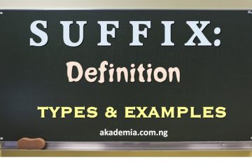 Suffix - Definition, Types & Examples