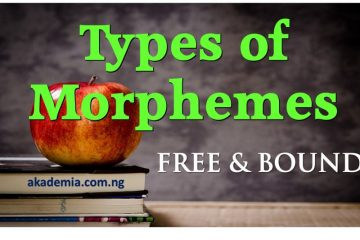 Types of Morphemes Free & Bound