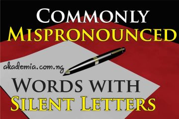 Commonly Mispronounced Words with Letters