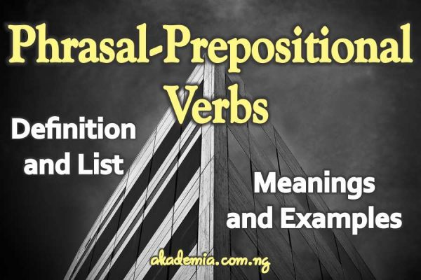 phrasal verbs definition and examples pdf