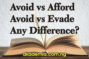 Avoid vs Afford and Avoid vs Evade: Any Difference?