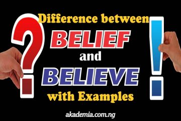 Difference between Belief and Believe with Examples