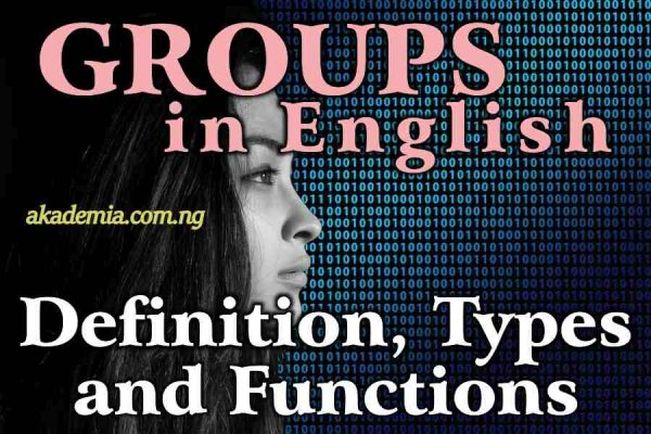 Groups/Phrase in English (with Definition, Types and Functions)