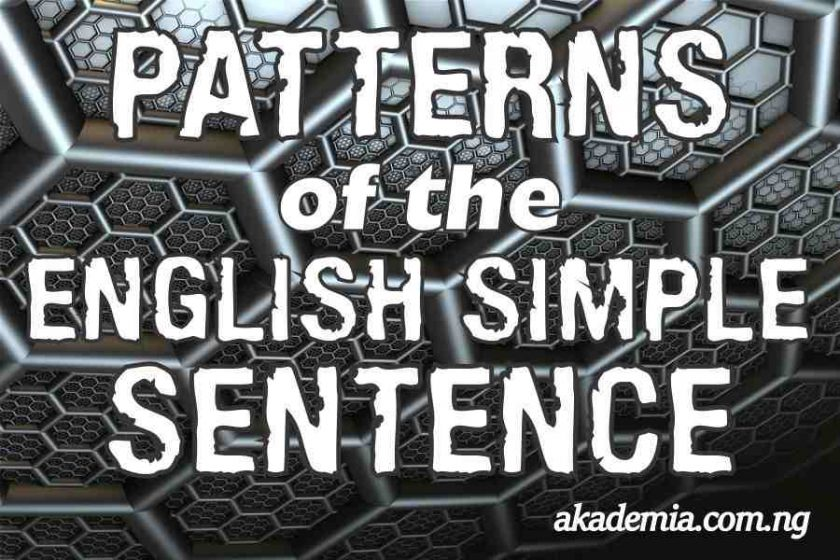 Patterns of the English Simple Sentence
