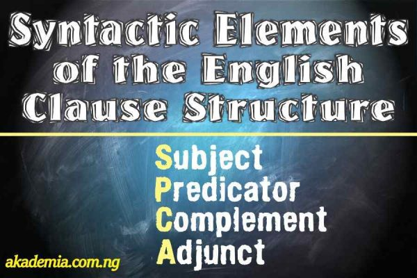 Syntactic Elements of the Clause Structure in English