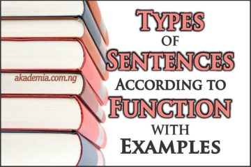 Types of Sentences According to Function with Examples