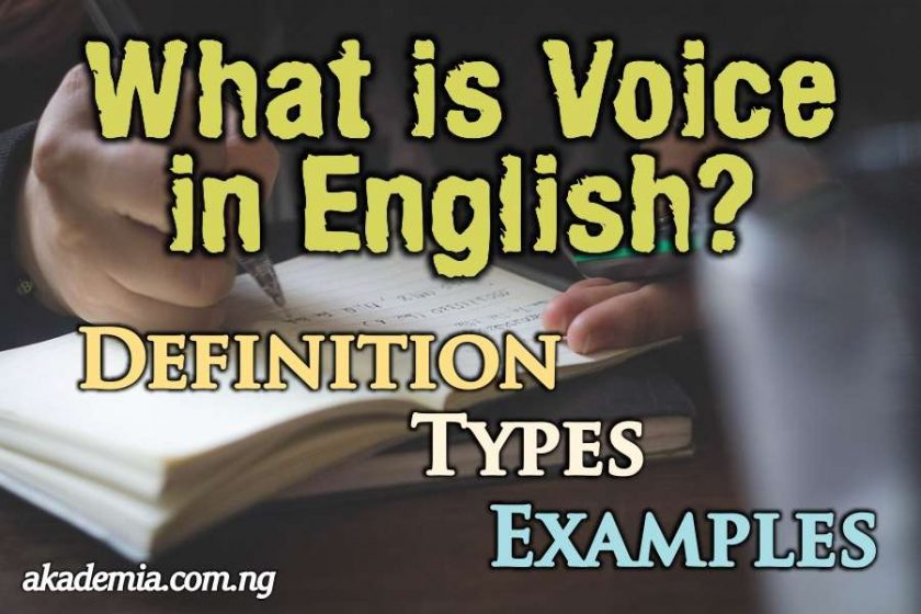 What is Voice in English? Definition, Types and Examples