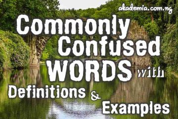 Commonly Confused Words with Definitions & Examples
