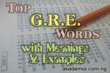 Top GRE Words with Meanings and Examples