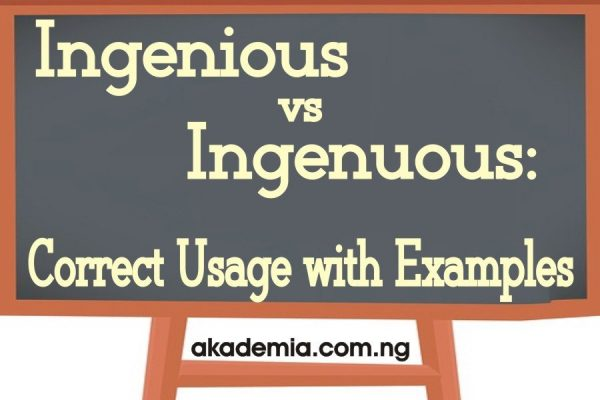 Ingenious vs Ingenuous: Correct Usage with Examples