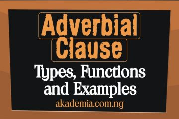 The Adverbial Clause: Types, Functions and Examples