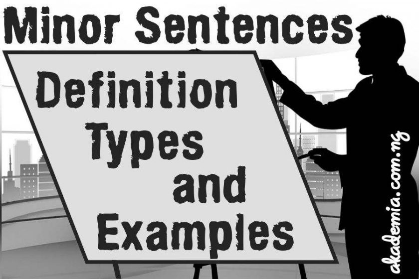 what is a minor sentence definition types and examples