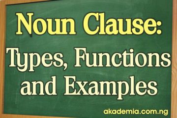 What is a Noun Clause? Types, Functions and Examples
