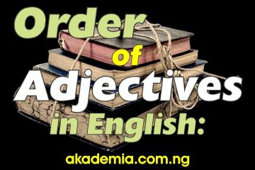 Order of Adjectives in English with Examples