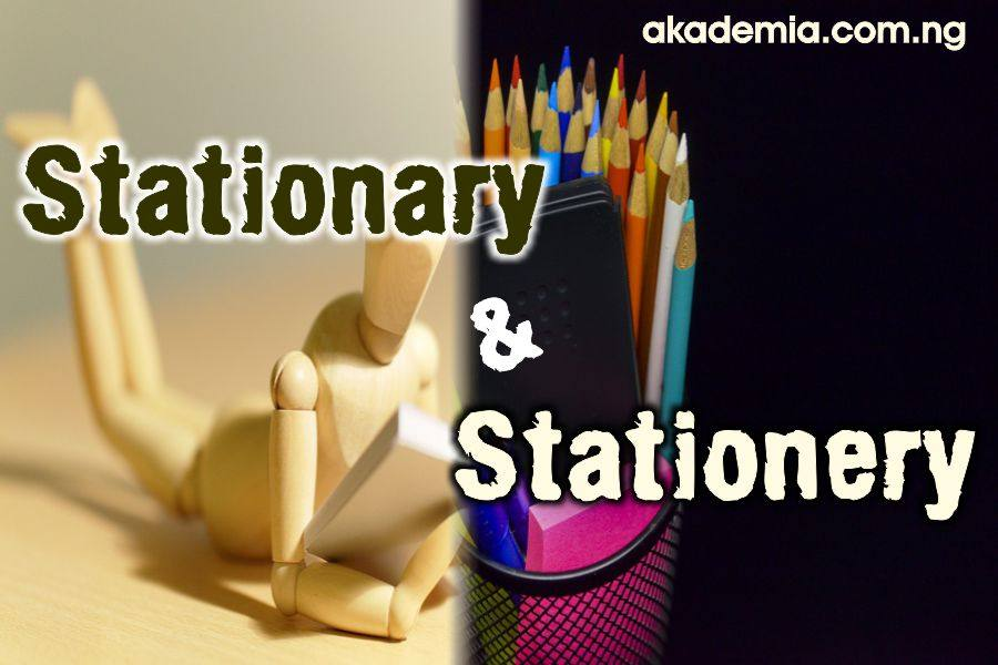 stationary and stationery  meaning  usage with examples