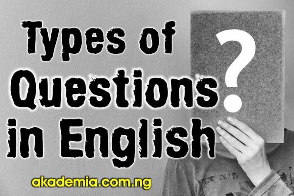 Types of Questions in English with Definition and Examples