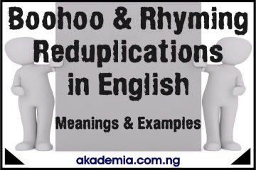 Boohoo and Rhyming Reduplications in English