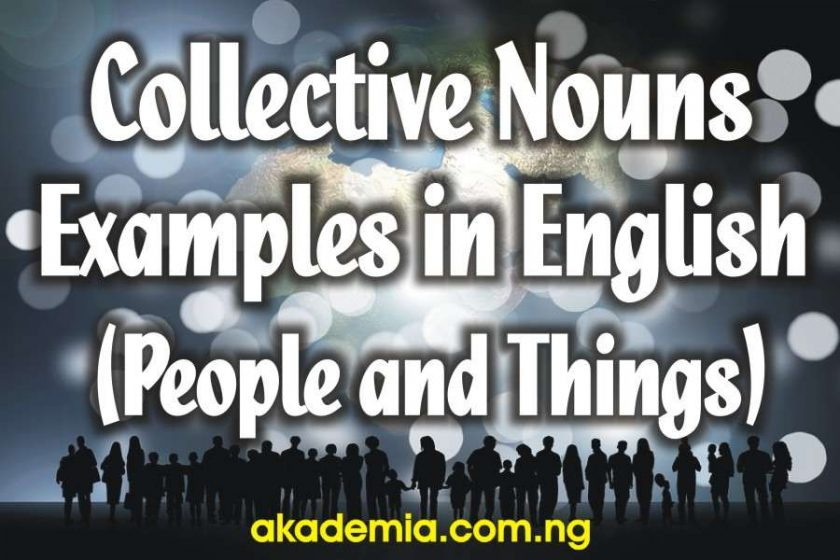 Collective Nouns Examples in English (People and Things)