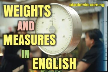 Description of Weights and Units of Measurements in English