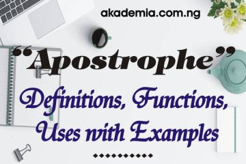 Apostrophe - Definitions, Functions, Uses with Examples