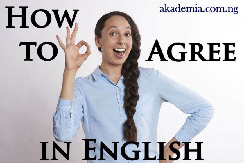 How to Agree in English with Examples