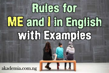 Rules for Me and I Grammar with Examples