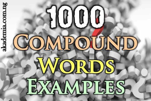 1000 Compound Words Examples