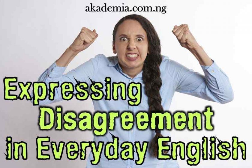 Expressing Disagreement in Everyday English with Examples