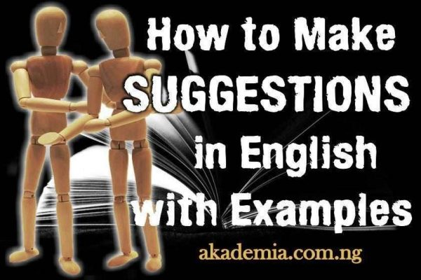 How to Make Suggestions in English with Examples