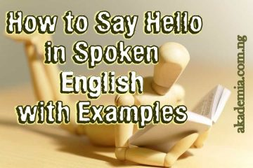 How to Say Hello in Spoken English with Examples